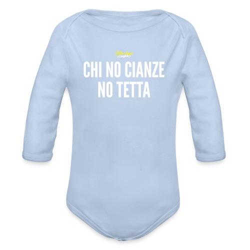Chi no cianze body Figin - Body ecologico per neonato a manica lunga