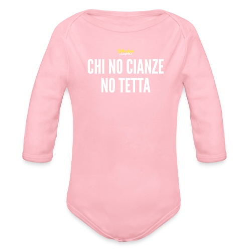 Chi no cianze body Figinn-a  - Body ecologico per neonato a manica lunga