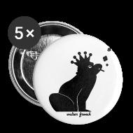 Buttons & Anstecker ~ Buttons groß 56 mm ~ 5x Anstecker Frosch (56 mm)