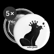 Buttons & Anstecker ~ Buttons mittel 32 mm ~ 5x Anstecker Frosch (32 mm)