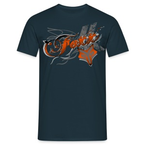 Men's Orange Foxx Tee - Men's T-Shirt