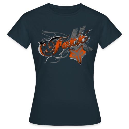 Women's Orange Foxx Tee - Women's T-Shirt