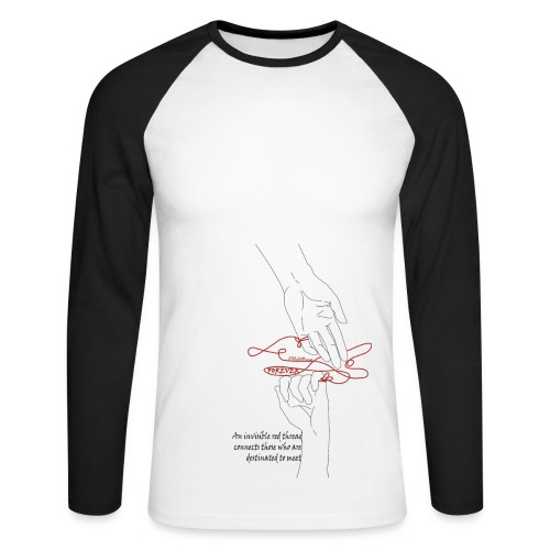 The red  thread of fate - Men's Long Sleeve Baseball T-Shirt