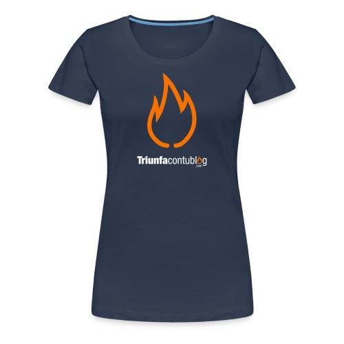 Camiseta mujer Triunfacontublog.com Azul - Camiseta premium mujer