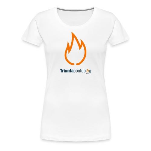 Camiseta mujer Triunfacontublog.com Blanca - Camiseta premium mujer