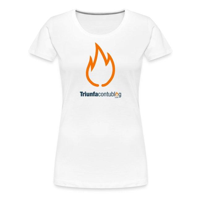 Camiseta mujer Triunfacontublog.com Blanca