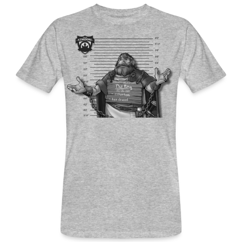Kingdoms Mug Shots - The King (M) - Männer Bio-T-Shirt