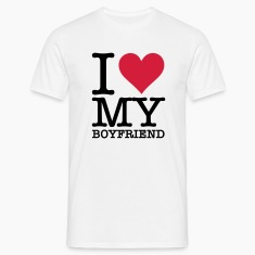 White I Love My Boyfriend (2c, NEU) Men's T-Shirts