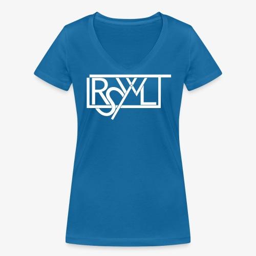 V-Neck Shirt im LRSWLT Design - Frauen Bio-T-Shirt mit V-Ausschnitt von Stanley & Stella