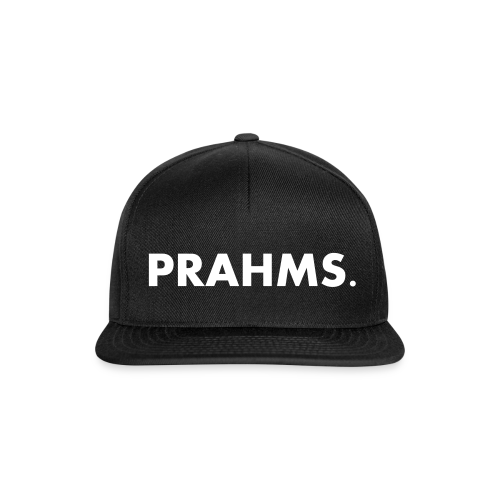 Cotton Cap Black on Black - Prahms - Snapback Cap