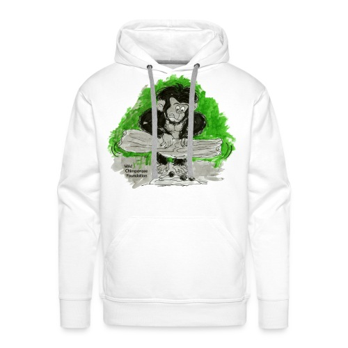 Chimpanzee nut cracking Men's Hooded Sweatshirt - Men's Premium Hoodie