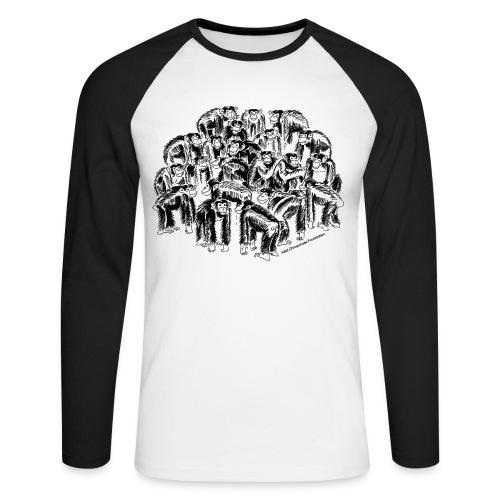 Chimpanzees Men's Raglan Long Sleeve - Men's Long Sleeve Baseball T-Shirt