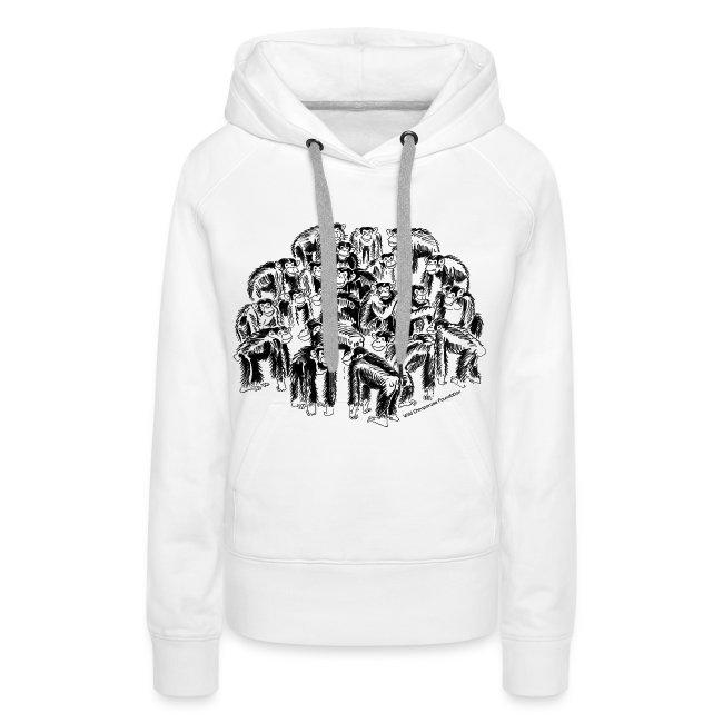 Chimpanzees Women's Hooded Sweatshirt