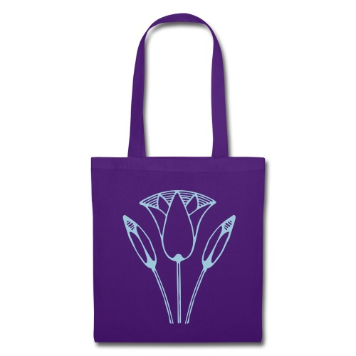 Tas Lotus met Soft Lila Print - Tote Bag