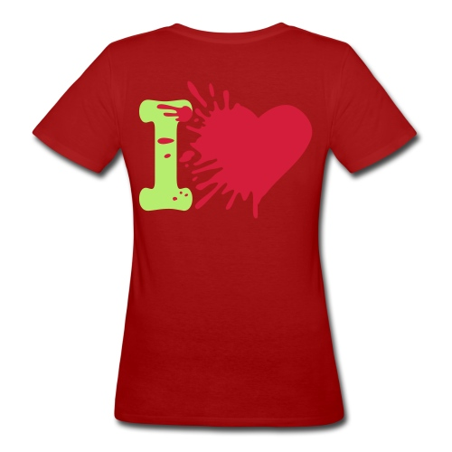 Heart Tee: Groen/Groen - Vrouwen Bio-T-shirt
