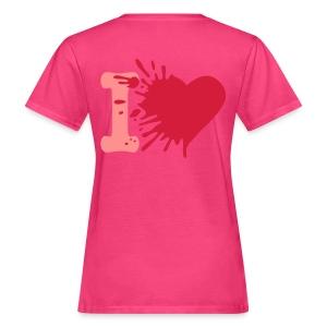 Heart Tee: Roze/Roze - Vrouwen Bio-T-shirt