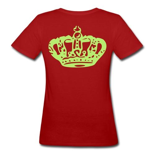 Queen Tee: Groen/Groen - Vrouwen Bio-T-shirt