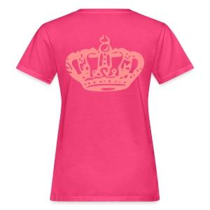 Queen Tee: Roze/Roze - Vrouwen Bio-T-shirt