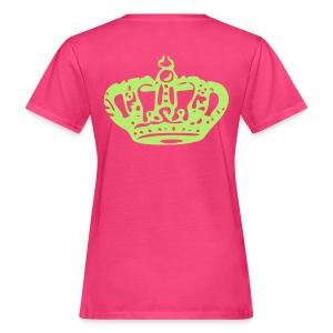 Queen Tee: Roze/Groen - Vrouwen Bio-T-shirt