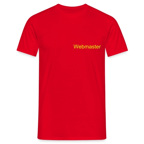 Webmaster - Red / Yellow - Men's T-Shirt