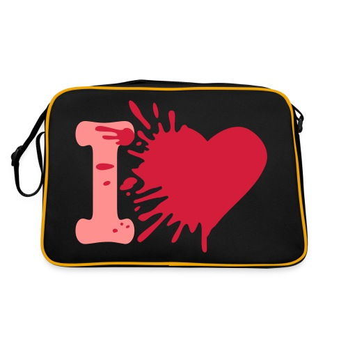 Heart Bag: Zwart/Roze - Retro-tas