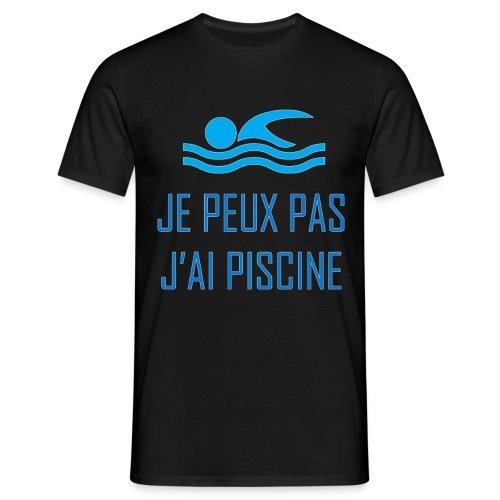 Je peux pas j'ai natation :) - T-shirt Homme