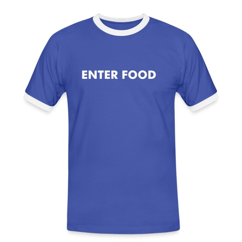 'ENTER FOOD/EXIT POO' - Men's Ringer Shirt