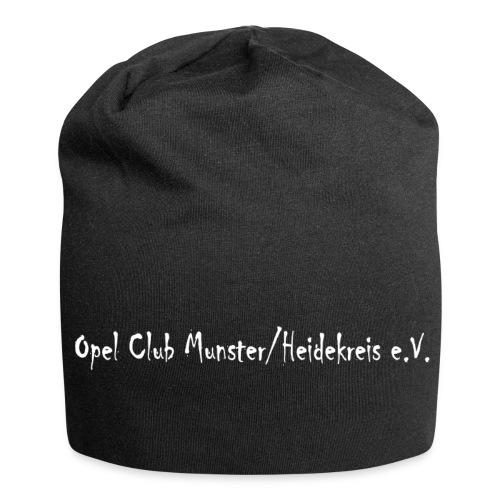 Mütze mit Schriftzug - Jersey-Beanie