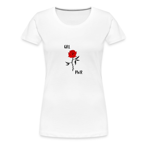 Girl Power! T-Shirt in weiß mit Logo in der Mitte - Women's Premium T-Shirt