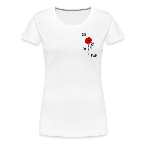 Girl Power! T-Shirt in weiß mit Logo in der Ecke - Women's Premium T-Shirt