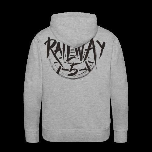 Railway 5 Hoodie Black (New) - Männer Premium Hoodie
