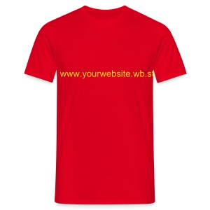 Wb.st URL - Red / Yellow - Men's T-Shirt
