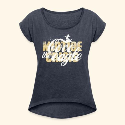 coco the eagle 1 - Frauen T-Shirt mit gerollten Ärmeln