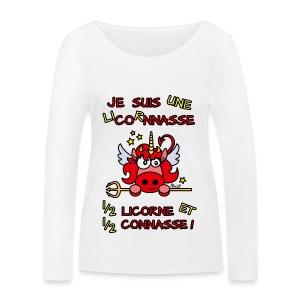 T-shirt BIO Femme LicornNASSE Moitié Licorne moitié C... - T-shirt manches longues bio Stanley & Stella Femme