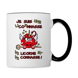 Tasse Bicolore LicornNASSE Moitié Licorne moitié C... - Tasse bicolore