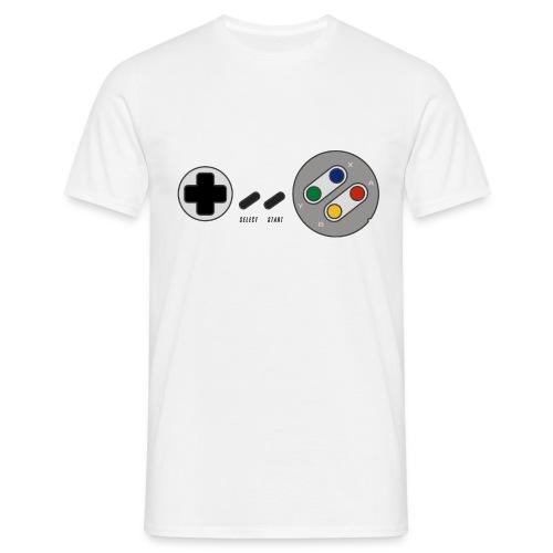 T-shirt Homme Premium Manches courtes |Manette de jeu & Paddle retrogaming version EURO  - T-shirt Homme