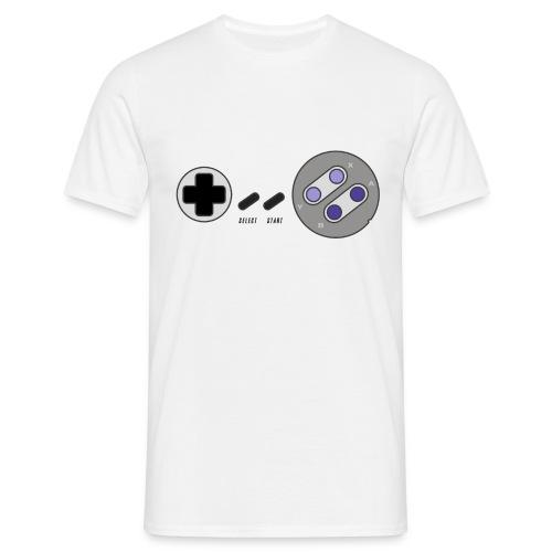 T-shirt Homme Premium Manches courtes |Manette de jeu & Paddle retrogaming version USA - T-shirt Homme