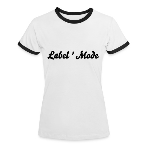 Tee shirt Label'Mode - T-shirt contrasté Femme
