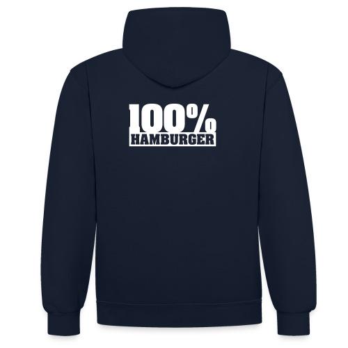 100% Hamburger Hoodie - Kontrast-Hoodie
