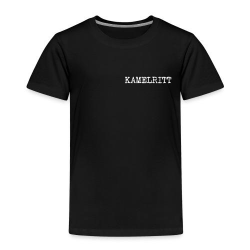 T-shirt barn med kamellogga på ryggen - Premium-T-shirt barn