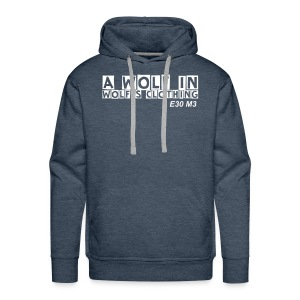 wolfs clothing & domain on back - Men's Premium Hoodie