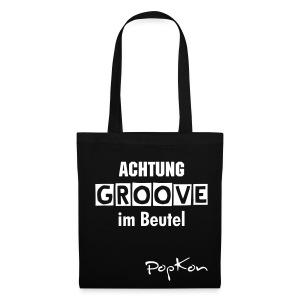 Groove-Beutel schwarz - Stoffbeutel