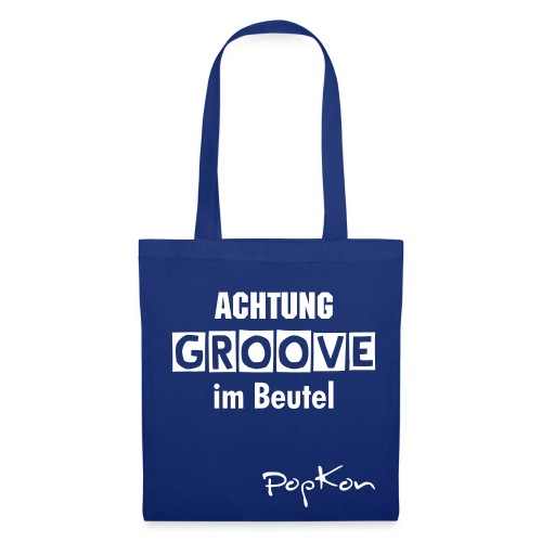 Groove-Beutel blau - Stoffbeutel
