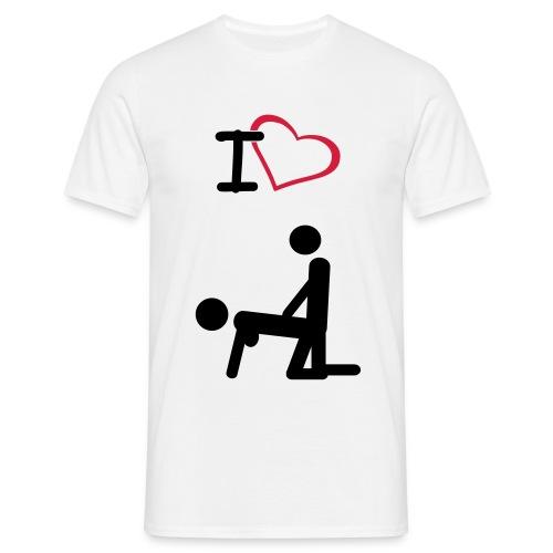 i love seks - Mannen T-shirt