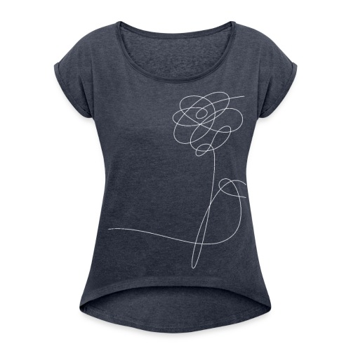 Flower - Women's T-Shirt with rolled up sleeves