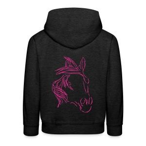 Dreamhorse,Kinderhoodie ( Print Digital  Magenta) - Kinder Premium Hoodie
