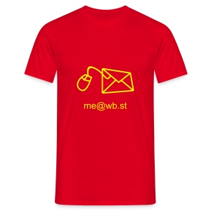 @wb.st - Red / Yellow - Men's T-Shirt
