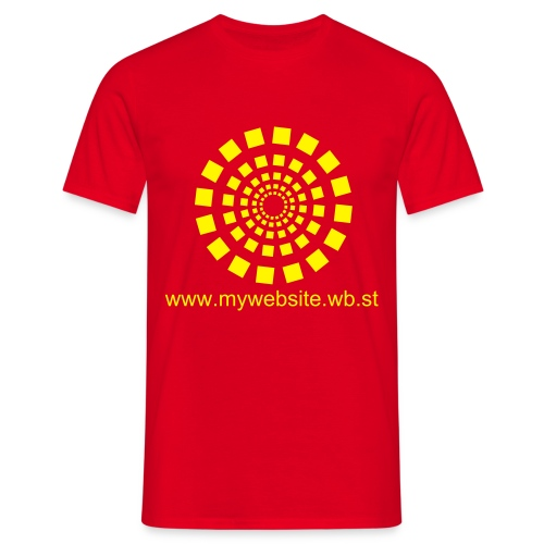 Spark - Red / Yellow - Men's T-Shirt
