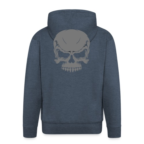 Veste à capuche Premium Homme - Veste à capuche granit homme Motif gris Tête de mort Collection Tête de Mort