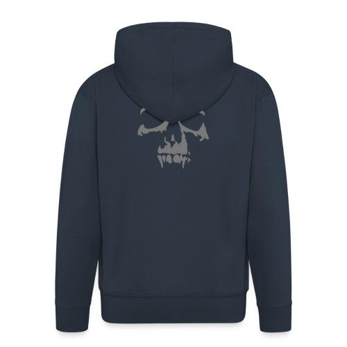 Veste à capuche Premium Homme - Veste à capuche bleu marine Homme Motif gris tête de mort Collection Tête de Mort